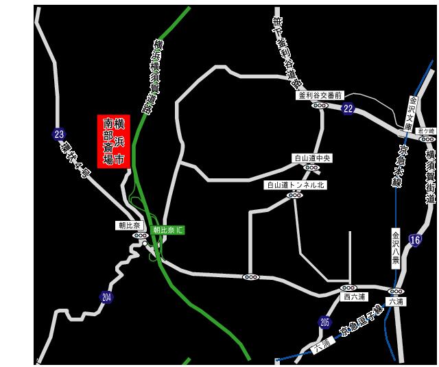 横浜市南部斎場アクセス地図